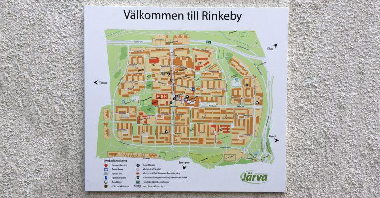 orienteringsskylt Rinkeby