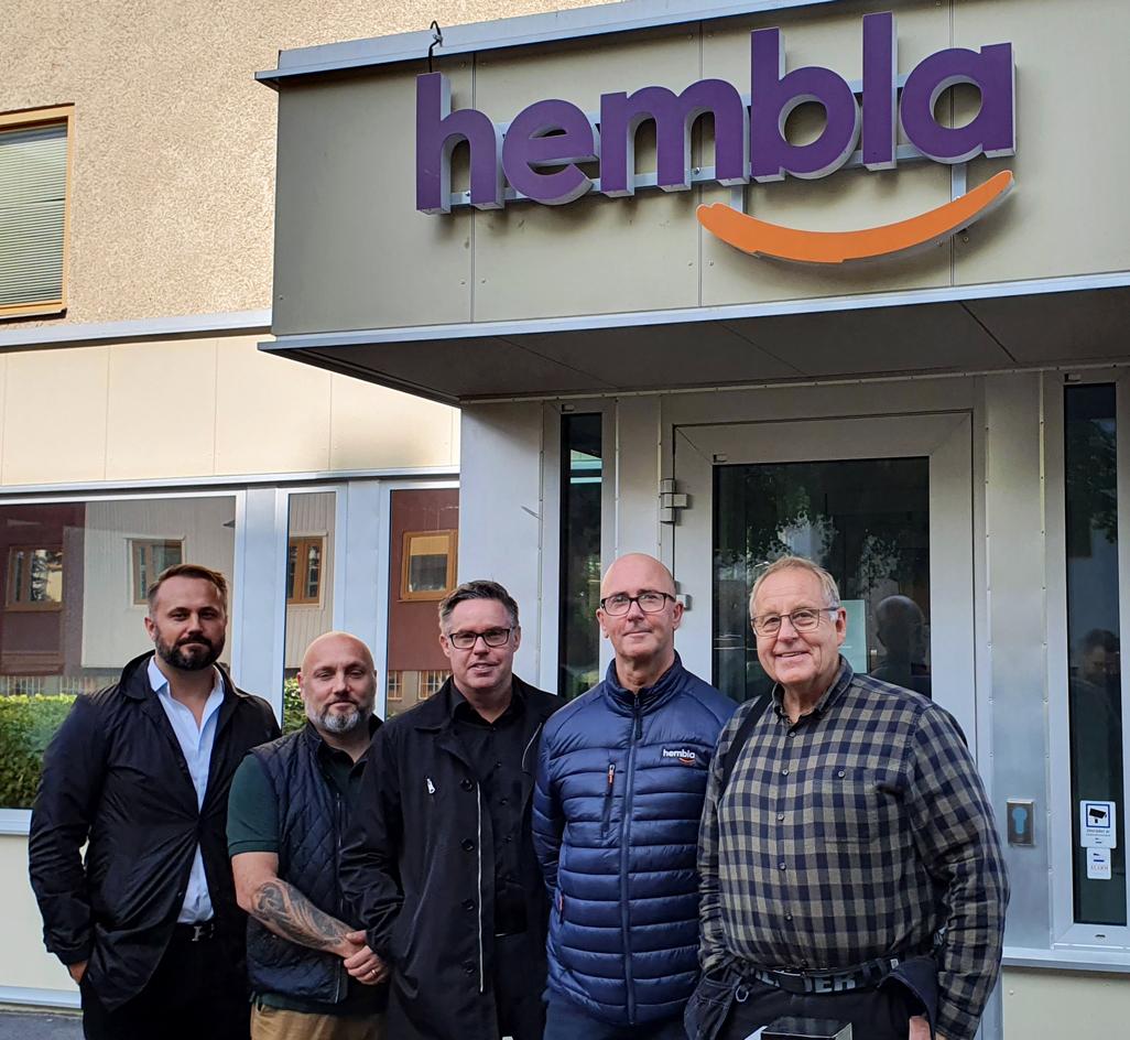 Sanel Hasic, Robert Hommas, Mikael Röjdemark, Jörgen Myhlén, och Lennart Levander.