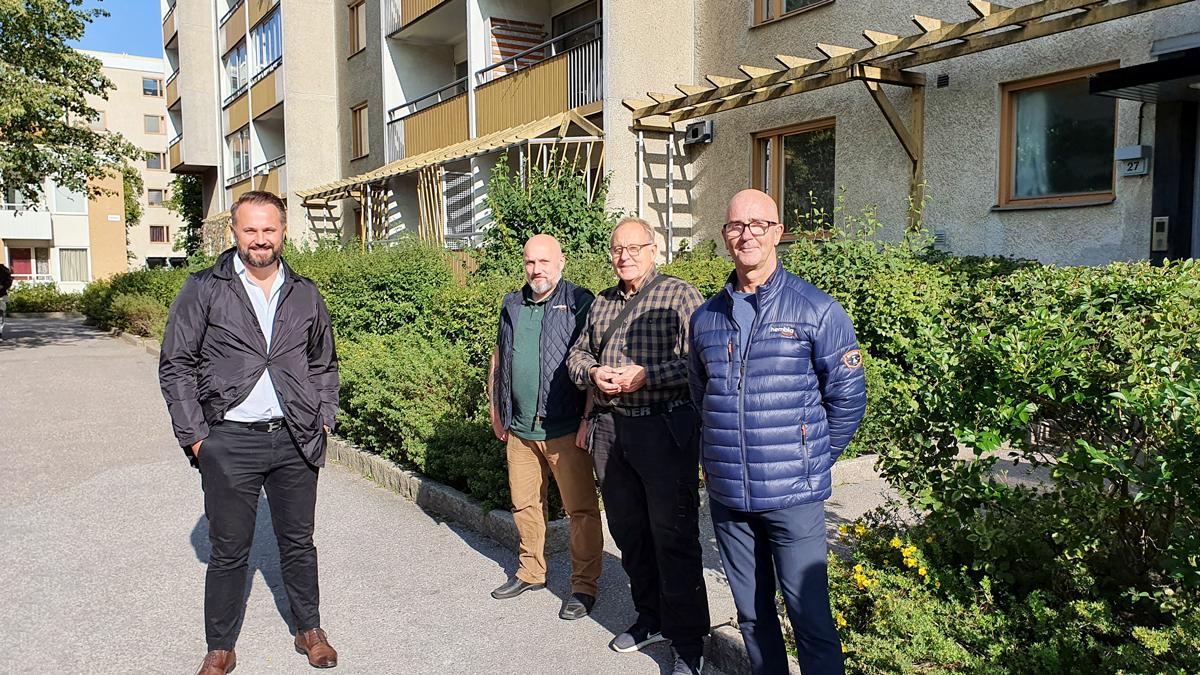 Sanel Hasic, Robert Hommas, Lennart Levander och Jörgen Myhlén.