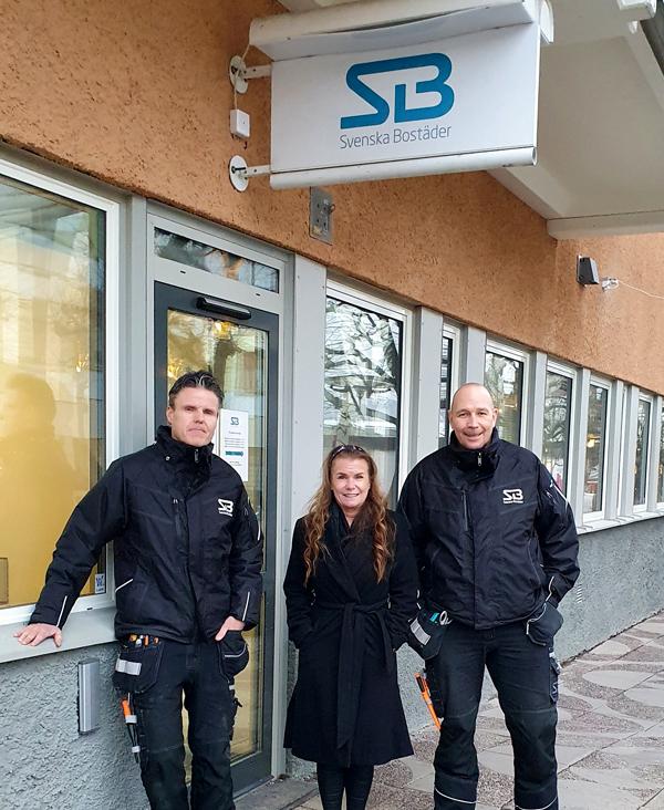 Anders Silverhem, bovärd, Birgitta Lindström, förvaltare och Johan Andersson, bovärd hos Svenska Bostäder i Tensta