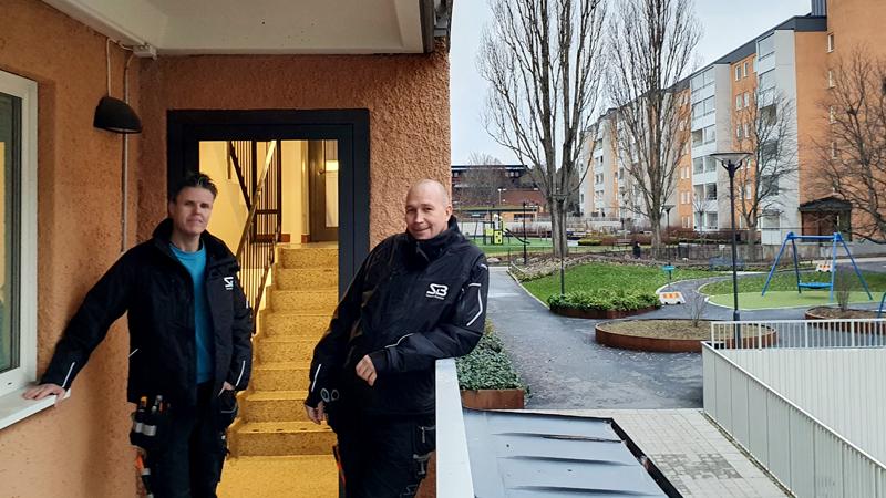 Bovärdarna ANders Silverhem och Johan Andersson i Tensta