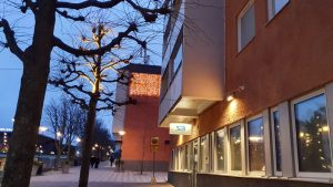 Ljulbelysning hos Svenska Bostäder i Tensta