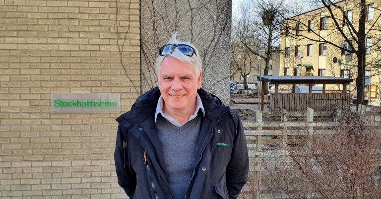Mikael Holmberg, förvaltare hos Stockholmshem i Järva